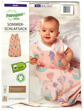 Baby Schlafsack Bio Baumwolle Strampelsack Pucksack Kleinkind Gr. 70 Rosa Ballon
