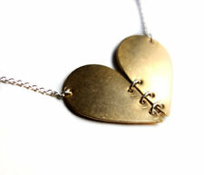 Gorgeous Handmade Linked Heart Necklace. Original Gift!