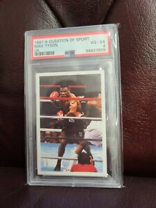 1987 Mike Tyson Rookie A Question Of Sport Boxing PSA Grade 4