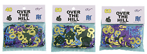 60th 50th 40th Birthday Party Confetti Over the Hill Table Scatters Decorations