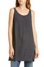 NWT EILEEN FISHER RUSSET SILK GEORGETTE CREPE TANK TOP SHELL$198 PS PL S M L XL