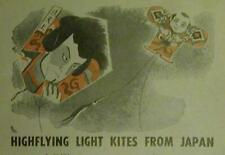 High Flying Japanese Kites 4 designs 1958 How-To build PLANS