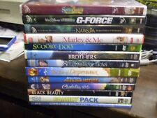 (19) Childrens Animal DVD Lot: Disney Narnia  G-Force  Scooby-Doo  Black Beauty