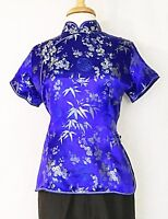 Traditional Chinese Asian Women's Classic Cheongsam Qipao Short Sleeve Blouse