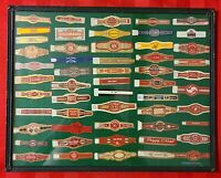 Cigar Band Collection-Vintage/Antique Cigar Bands Framed