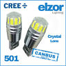 Vw Super Bright 501 Black Series Led Cree Smd Side Bulbs Error Free Canbus