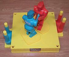 2001 Mattel Rock' Em Sock' Em Robots Boxing Ring Blue & Red Bomber **READ**