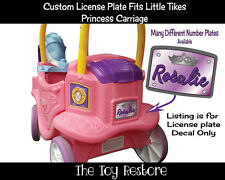 License Plate Decals fits Little Tikes Princess Carriage Ride Toy Purple Crown