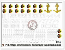 Peddinghaus 1/35 East German NVA Emblems, Numbers and Tactical Markings 1185