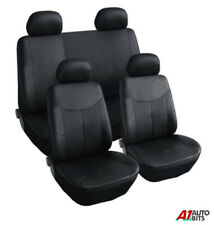 Leather Look Fit Peugeot 106 205 206 207 306 307 407 Car Seat Covers Set Black