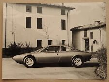 Ferrari Dino 308 GT4 2+2 Presse Photo 1974 Genf book brochure prospekt depliant