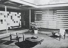 1963 Design Build Mid Century Modern Patio Floors Walks Walls Steps Masonry Tile