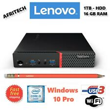 Lenovo M900 i5 6th gen. 3.6GHz 480GB SSD 16GB RAM Tiny Mini PC DESKTOP SMALL 4K