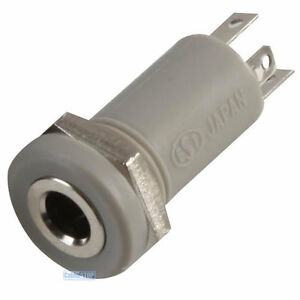2.5mm Mini Stereo Jack Chassis 4 POLE 4P Panel Mount Input Socket Connector Grey
