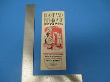 Vintage Roast And Pot-Roast Recipes For Beef By Beef Industry Council  S1172
