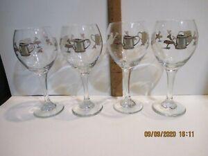 4 Pfaltzgraff Cappuccino Wine Glass 20oz  Retired Pre-Owned