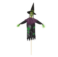 Halloween Scary Witch Yard Stake for Indoor and Outdoor Use