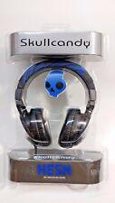 Skullcandy Hesh Headphones Black Blue stripe DJ 2 over ear headset 50mm bass