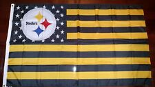 Pittsburgh Steelers 3x5 American Flag. US seller. Free shipping within the US