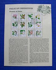 Palau - 1987 Flowers of Palau Souvenir Page