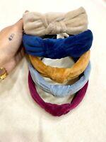 Fermacapelli frontino cerchietto archetto velluto con nodo centrale