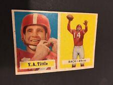 1957 TOPPS #30 Y.A. TITTLE SAN FRANCISCO 49ER'S FOOTBALL CARD NM