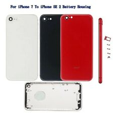 Back For iPhone 7 Replace To iPhone SE 2 Door Metal Glass Battery Housing Cover