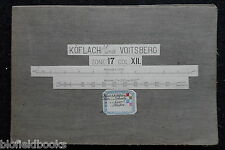 Vintage Folding Army Map of Koflach und Voitsberg - c1890 - Austria, Europe