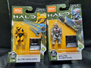 Mega Construx Halo Infinite Elite Warlord And Brute Chieftain Lot Of 2 New