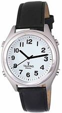 ATOMIC! Talking Analog Watch for the Blind w/Alarm,Speaks Time, Day,Date,#1350