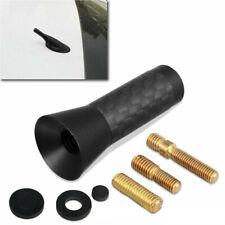 Screw 14 Inches Car Antenna Aerial Carbon Fiber Radio Fm Antena Black Kit