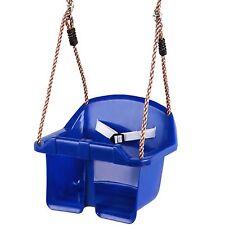 balançoire bébé pour Enfants à siège plastique tout petit bleu