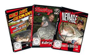 3 Zeck New Age DVDs Wallerangeln mit Carsten Zeck Wallerangeln Welsangeln