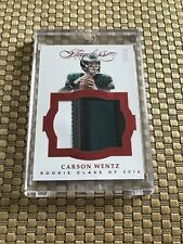 2016 FLAWLESS CARSON WENTZ RC SSP RUBY RED 4 COLOR JUMBO PATCH JSY 11/15 JERSEY#
