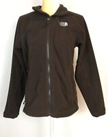 The North Face Womens M Brown Fleece Jacket Full Zip Zipper Pockets