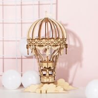 Robotime 3D Wooden Puzzle Laser Cut Model Hot Air Balloon Model Toy for Kids