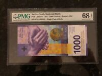 Switzerland 1000 Francs 2017 SUPERB GEM UNC PMG 68 EPQ