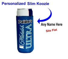 Michelob Ultra Slim Fit Blue Foam cooler - Personalized free, Mich Ultra cooler