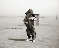 """Young Farm Boy in Oklahoma during the Dust Bowl era 8""""x 10"""" Photo 64"""