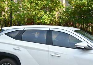 Chrome Window Visor Vent Shades Sun Rain Guard 6X For Hyundai Tucson 2022-2023