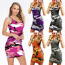 Women Sleeveless Clubwear Spaghetti Strap Summer Bodycon Mini Dress Slim S-3XL