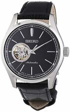 Seiko Genuine Leather Strap Round Wristwatches