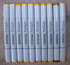 Lot Of 10 Copic Sketch Markers Y Colors #250 ~ NEW ~