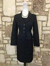Kasper Petite Women's 2Pc Dress Suit Blue Size 8P *EUC