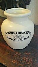 "Vintage Ceramic Winsor & Newton Pottery Artists Paint Brush Holder 4"""