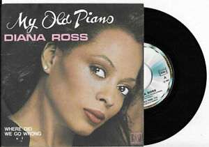 """Diana Ross - My old piano 7"""" Vinyl-Single France Motown Records von 1981 mint"""