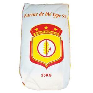 Farine de blé blanche type T55 Multi-Usage - Sac de 25kg - Marque Blason Rouge -