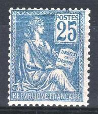 "FRANCE STAMP TIMBRE N° 118 "" MOUCHON 25c BLEU TYPE II 1900 "" NEUF xx TTB  P447"