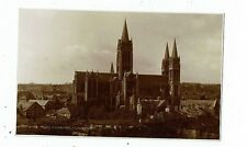CORNISH POST CARD REAL PHOTO OF TRURO CATHEDRAL