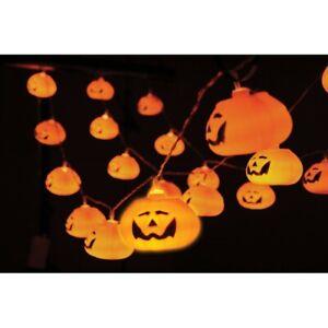 QTX Halloween Battery Powered 20 Pumpkin LED String Lights -3D- Party Decoration